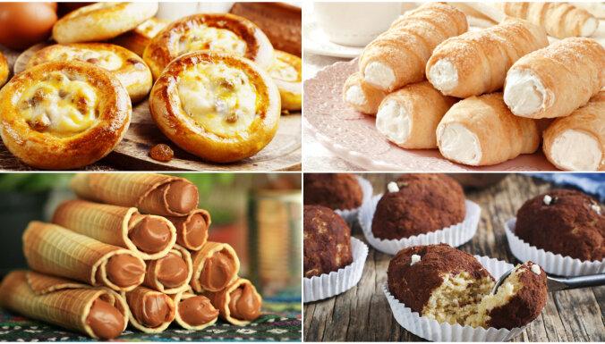 Konditoreju klasika: kūkas, vafeles un bulciņas garšu ceļojumam uz pagātni