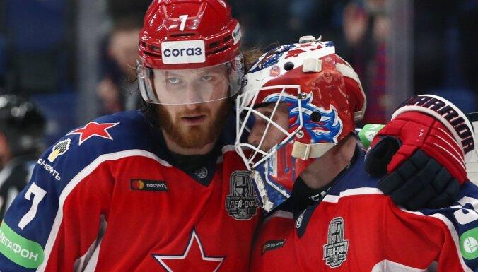 Maskavas CSKA nonāk uzvaras attālumā no Gagarina kausa fināla
