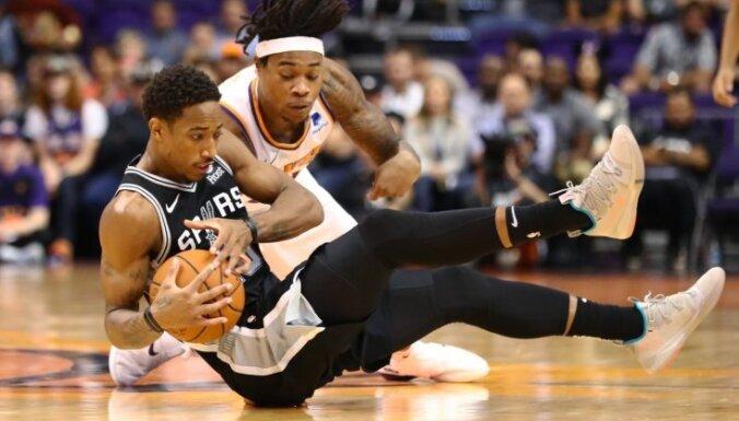 Bertāns palīdz 'Spurs' komandai sagraut 'Suns'