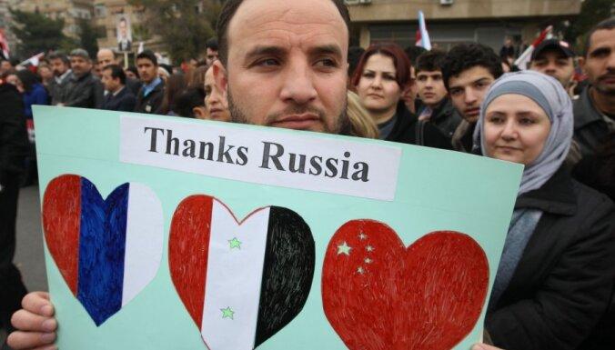 Krievija un Ķīna uzliek veto ANO Drošības padomes rezolūcijai par sankcijām pret Sīriju