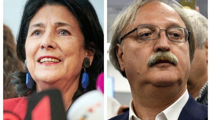 Gruzijas prezidenta vēlēšanās līderos Vašadze un Zurabišvili