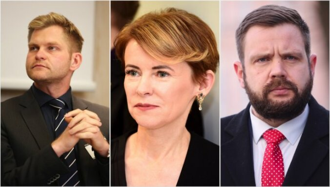 Uz 'KPV LV' ministru krēsliem izskata Golubevas, Eglīša un Vitenberga kandidatūras