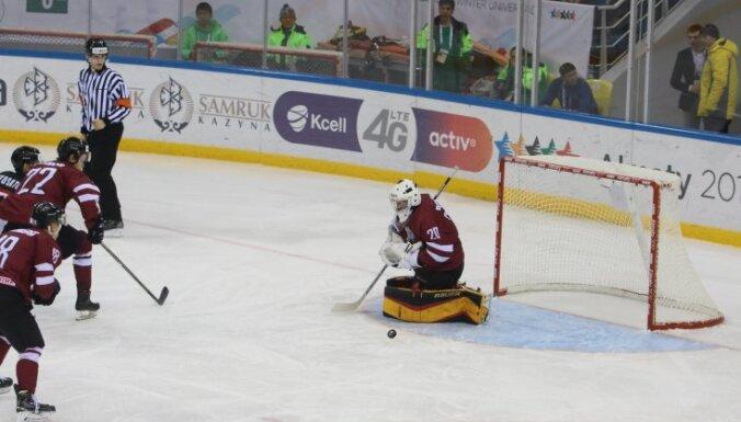 Latvija hokejs, Universiade