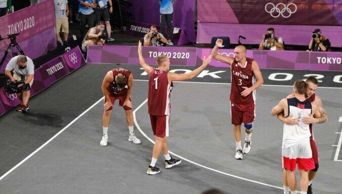 Команда Латвии по баскетболу за золото Токио получит премию 426 тысяч евро
