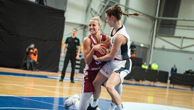 Latvijas sieviešu basketbola izlasei zaudējums Vācijai sarežģī cīņu par EČ finālturnīru