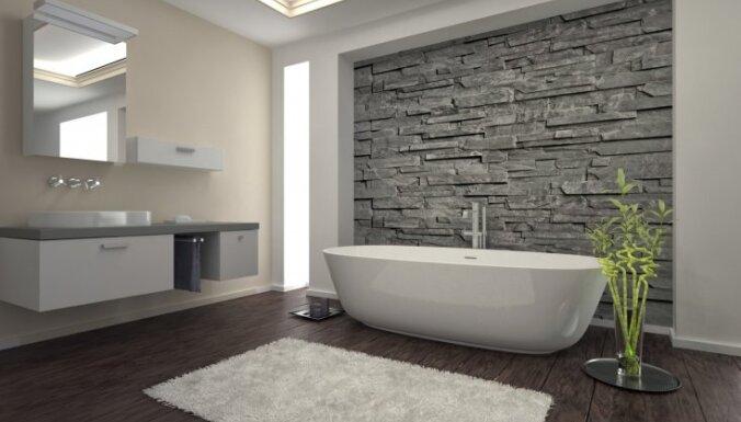 Vēsuma un elegances klātbūtne vannasistabā – akmens daile un harmonija