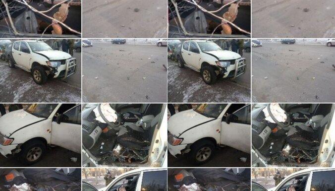 Horļivkā auto sprādzienā ievainots separātistu komandieris Garais