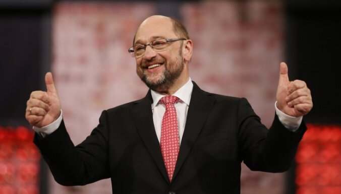 Šulcs kļūst par Vācijas sociāldemokrātu jauno līderi
