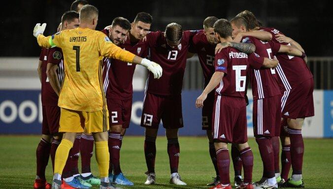 Latvijas futbola izlase pārbaudes spēlē tiksies ar Melnkalni