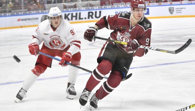 KHL atzīst tiesnešu kļūdu, kas ļāva 'Vitjazj' pieveikt Rīgas 'Dinamo'