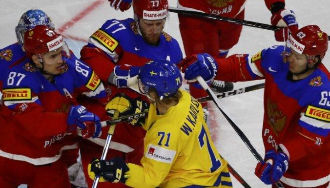 William Karlsson Sweden against Vadim Shipachyov, Anton Belov and Yevgeni Dadonov