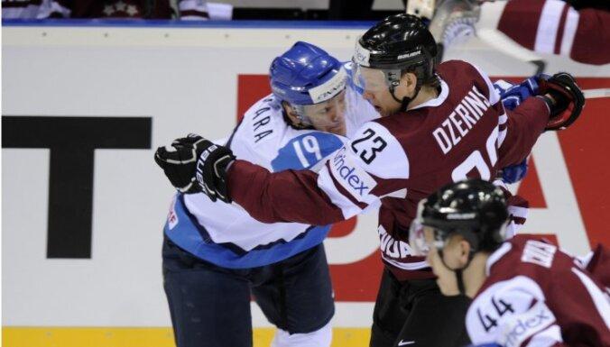 Хоккеисты Латвии бросили по воротам финнов всего шесть раз