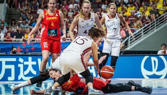 Latvijas basketbolistes pakutina nervus Eiropas čempionēm spānietēm