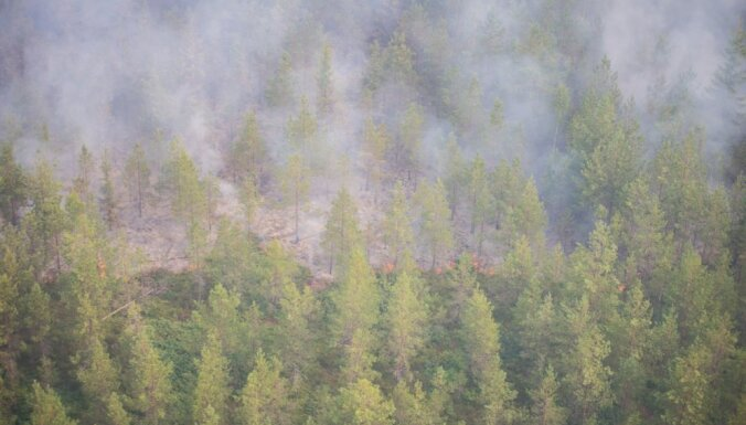 Запах дыма с пожара в Валдгалской волости достиг центральной части Латвии