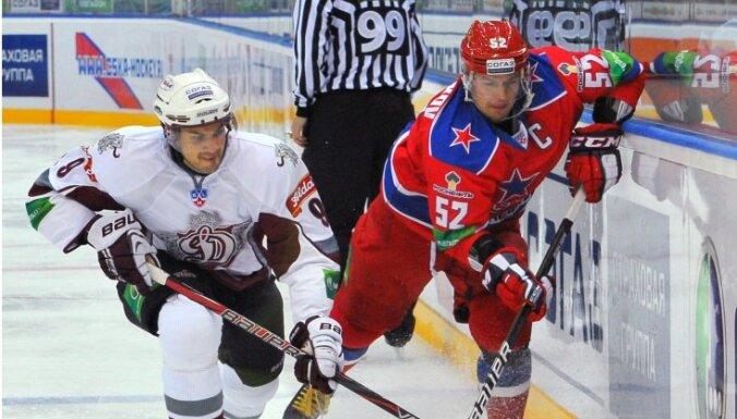 Rīgas 'Dinamo' mačā pret CSKA cenšas nepieļaut garākās zaudējumu sērijas antirekordu