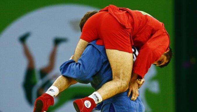 На домашнем чемпионате мира самбисты Латвии завоевали две награды