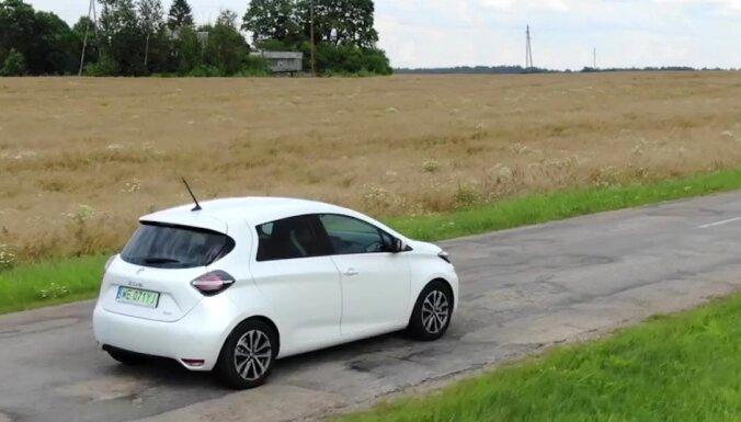 'Tavs Auto TV' izmēģina Eiropā vispārdotāko elektromobili 'Renault Zoe'