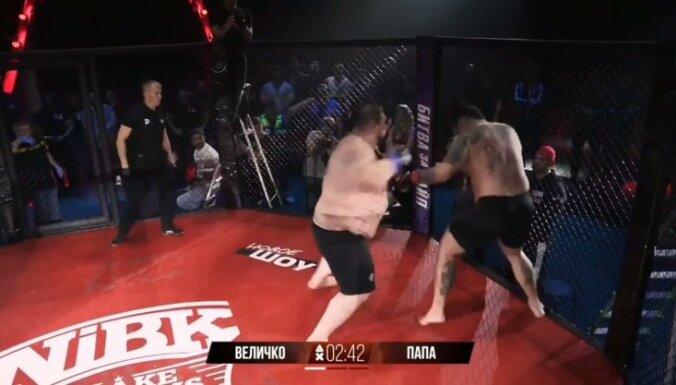Video: 212 kilogramus smags cīkstonis MMA debitē ar nokautu 20. sekundē