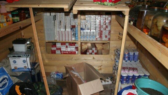 В ходе обыска изъято 195000 нелегальных сигарет