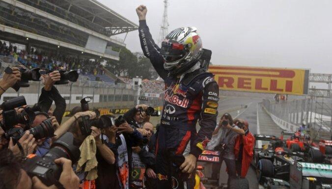 Fetels ar sesto vietu Brazīlijas GP izcīna savu trešo F1 čempiona titulu