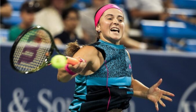 Ostapenko neliels kāpums WTA rangā, Sevastova droši turas TOP 20