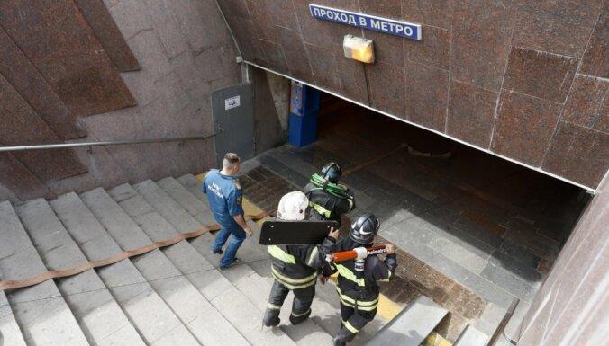 Saistībā ar traģisko avāriju Maskavas metro aizturēti divi cilvēki