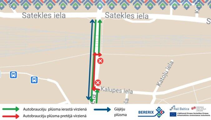 Sākas 'Rail Baltica' izbūves darbi Lāčplēša ielas posmā pie Centrālās stacijas