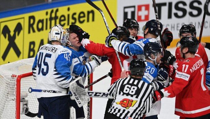 Pasaules hokeja čempionāta Rīgā kulminācija: Kanāda un Somija atkal cīnās par zeltu