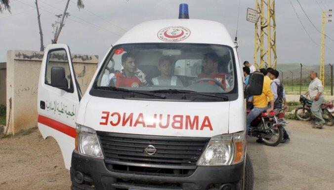 Pie Sīrijas robežas apšaudē iet bojā Libānas televīzijas operators