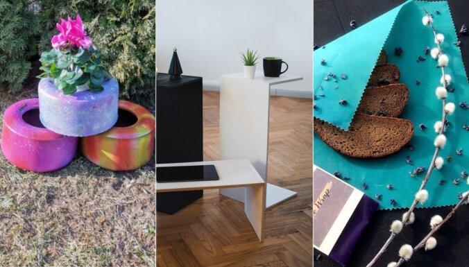 10 skolēnu darinājumi mājai, ko var iegādāties tiešsaistes tirdziņā 'Cits bazārs'