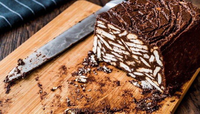 Karaliskā šokolādes kūka bez cepšanas
