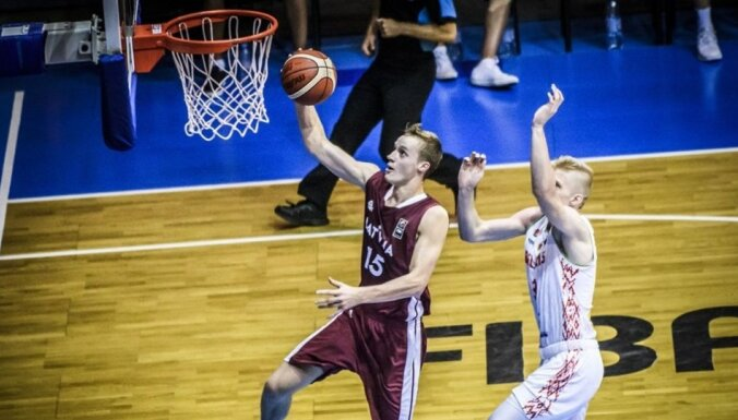 Latvijas U-20 vīriešu basketbola izlase piedzīvo zaudējumu Eiropas čempionāta pirmajā spēlē