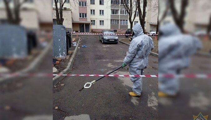 Foto: Minskā pie atkritumu konteineriem atrod spaini ar urānu