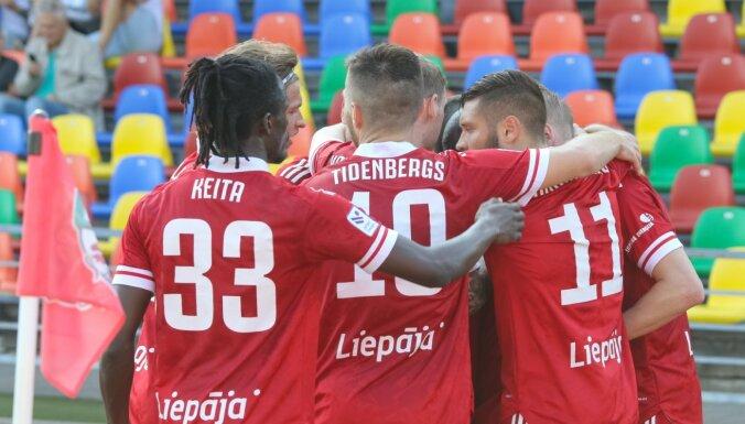 'Liepāja' Kurzemes derbijā uzvar 'Ventspili' un saasina cīņu par ceturto vietu
