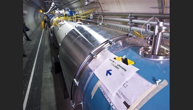 В БАК — первое столкновение пучков протонов