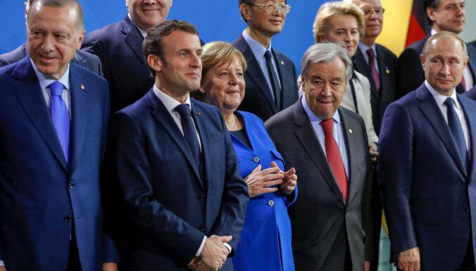Pasaules līderi Berlīnē cenšas atrisināt Lībijas konfliktu