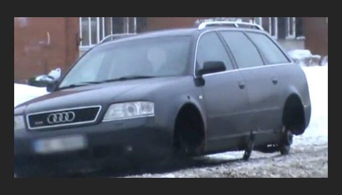 Совсем неудачное утро для владельца Audi (видео)