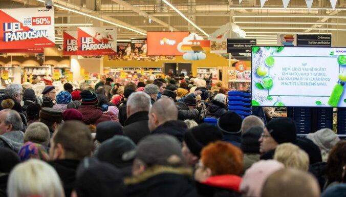 ФОТО: После реконструкции открылся супермаркет Maxima в Плявниеках