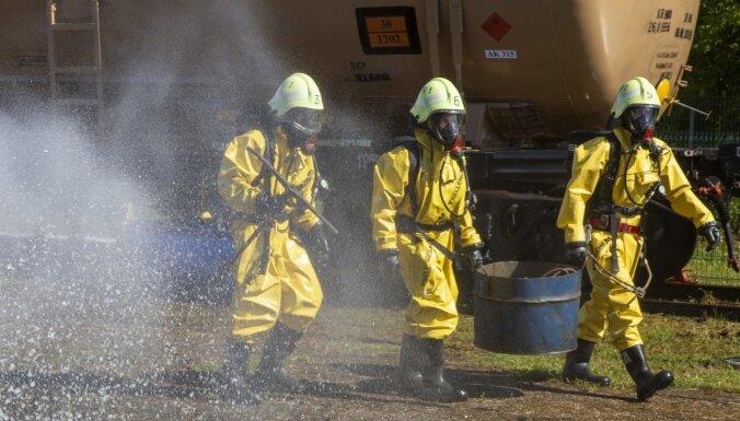 Mācībās Riekstukalnā imitēs bīstamas vielas noplūdi; aicina iedzīvotājus neuztraukties