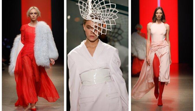 Rīgas modes nedēļas otrā diena valdzina ar sievišķību un eleganci