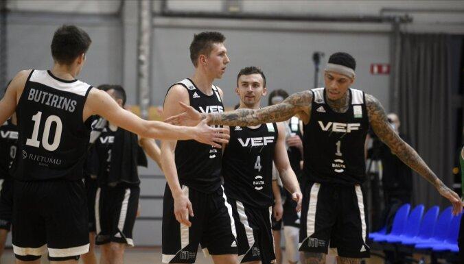Latvijas vadošo komandu cīņā VEF pieveic BK 'Ventspili'