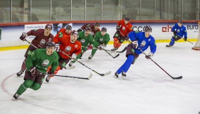 ФОТО: Сборная Латвии провела первую тренировку перед турниром в Минске