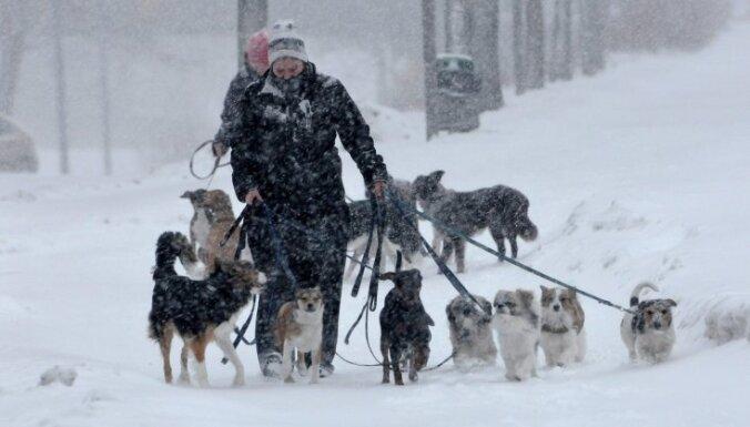 Zviedrijā iestājusies barga un dziļa ziema; izplata brīdinājumu par stipru snigšanu Stokholmā