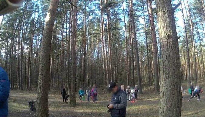 Imantas meža masīvā bērni pulcināti sportiskām aktivitātēm