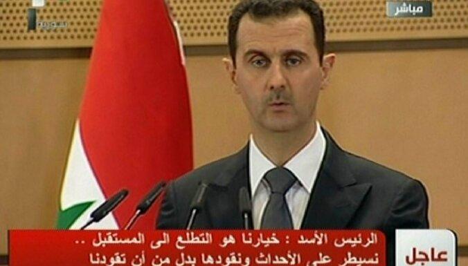 Asads aicina iejaukties Sīrijas konfliktā