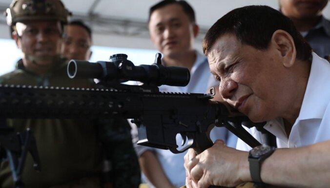 Starptautiskā krimināltiesa autorizē izmeklēšanu par Dutertes īstenoto 'karu pret narkotikām'
