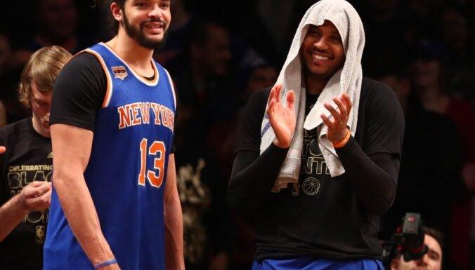 'Knicks' basketbolistam Noā par aizliegto vielu lietošanu piespriež 20 spēļu diskvalifikāciju
