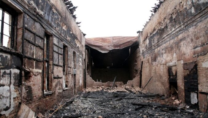 """ФОТО: руины дважды горевшей поликлиники санатория """"Кемери"""""""