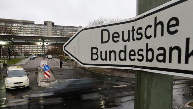 'Bundesbank' būtiski samazinājusi Vācijas ekonomikas nākamā gada izaugsmes prognozi