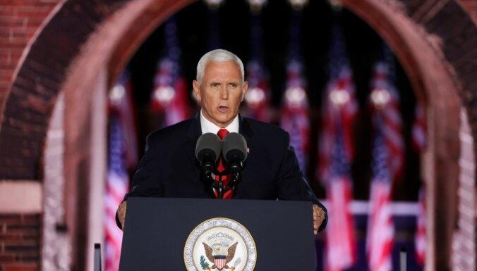 Ja Baidens kļūs par prezidentu, amerikāņi nebūs drošībā, apgalvo Penss